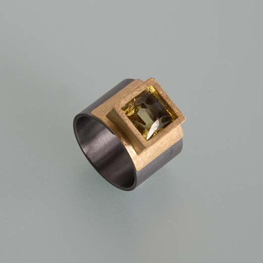 Ringe, Tantal, Gold 900/000, Beryll